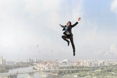 Его активная позиция в жизни Мультимедиа Стоковая Фотография RF