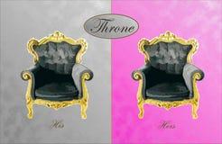 Его и ее трон Стоковая Фотография