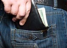 его карманный бумажник Стоковые Фото