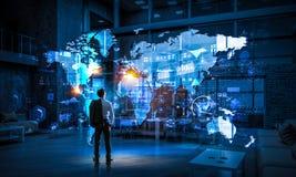 Его стратегия глобального бизнеса Стоковое Фото