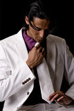 его tyoung галстука человека стоковое фото