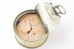 еда алюминиевой чонсервной банкы законсервированная изолированная над белизной Стоковая Фотография RF