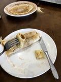 Еда блинчиков сахара и cinamon стоковые изображения