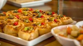 Еда бразильянина макаронных изделий Rondelli стоковое изображение