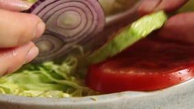 Еда вводя гуакамоле в моду с завтраком vegies акции видеоматериалы