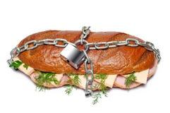 еда вредная которая Стоковая Фотография RF
