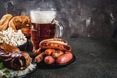 Еда выбора для Oktoberfest Стоковая Фотография RF