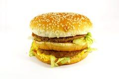 еда гамбургера быстро-приготовленное питания стоковая фотография