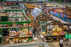 Еда глохнет в рынке Hall Стоковое фото RF