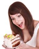 еда девушки Стоковое Фото