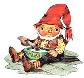 еда детенышей santa Стоковая Фотография