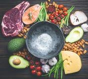 Еда диеты Keto стоковые изображения rf