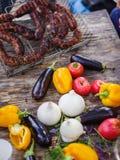 Еда для пикника снаружи стоковое изображение rf