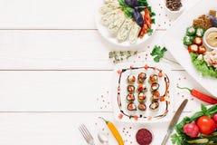 Еда домодельных закусок закусок различная праздничная стоковые фото