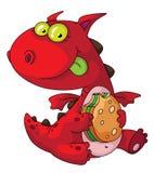 еда дракона Стоковые Изображения