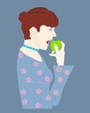 еда женщины плодоовощ здоровой Стоковые Фото