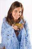 еда женщины супа Стоковые Фото