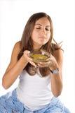 еда женщины супа Стоковое Фото