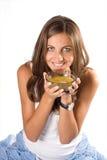 еда женщины супа Стоковое Изображение RF