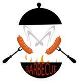Еда зажаренная логотипом бесплатная иллюстрация