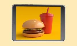 Еда заказа онлайн r бесплатная иллюстрация