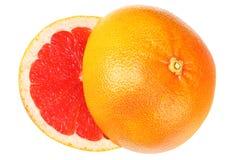 еда здоровая грейпфрут при зеленые лист изолированные на белом взгляд сверху предпосылки стоковые фото