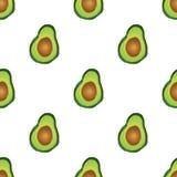 еда здоровая Печать авокадоа картина безшовная Стоковое Фото
