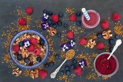 Еда здорового завтрака супер стоковые фотографии rf