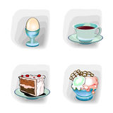 еда икон цвета Стоковая Фотография RF