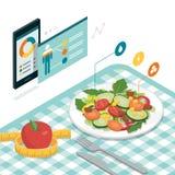 Еда и диета app бесплатная иллюстрация