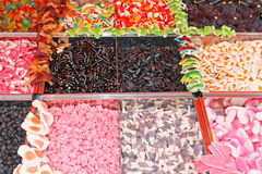 Еда камедеобразных конфет хорошая для всех детей для сбывания к рынку Стоковые Фото