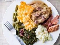 Еда комфорта Американские классики праздника Стоковые Изображения