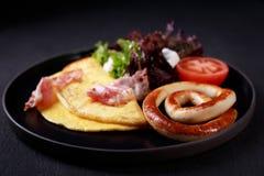 Еда континентального завтрака, бизнес-ланч стоковое фото
