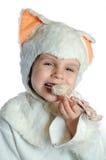 еда кота счастливая стоковые фотографии rf