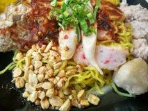Еда лапши тайская Стоковое Изображение RF