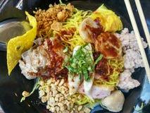 Еда лапши тайская Стоковое Фото