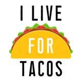 Еда мексиканца тако бесплатная иллюстрация