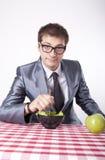 Еда молодого человека Стоковое фото RF