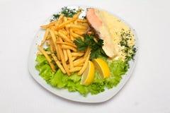 Еда на плите стоковое изображение rf