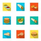 Еда, обед, голодает и другой значок сети в плоском стиле Piello, сливк, соус, значки в собрании комплекта иллюстрация штока