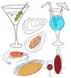 еда питья иллюстрация вектора