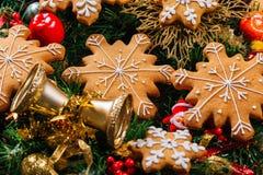 Еда предпосылки рождества Стоковые Фото