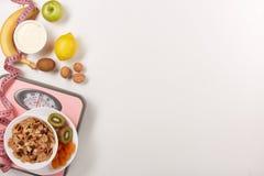 еда принципиальной схемы здоровая slimming Стоковое Фото
