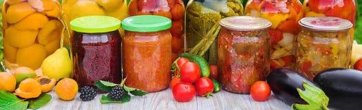 Консервация овощей Пробелы Природа выборочного фокуса стоковая фотография rf