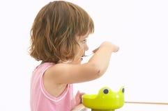 еда ребенка завтрака стоковые фото