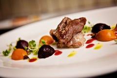 Еда ресторана, живот свинины Стоковое Изображение