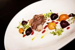 Еда ресторана, живот свинины Стоковые Изображения