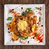 Еда ресторана - испеченная картошка Стоковые Изображения