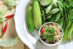 Еда рыб смешивания Chili тайской еды Стоковое Изображение RF