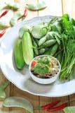 Еда рыб смешивания Chili тайской еды Стоковое Фото